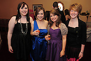 Leona Smyth Lavally Emma Connelly Corofin Nicola Roche Claregalway, Niamh Martyn Kilconly, Tuam at the  Ability West,  second annual Best Buddies ball, 2010 in the Galway Bay Hotel, Salthill Galway. Photo:Andrew Downes.