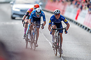 Yves Lampaert of Deceuninck - Quick Step sprints for the finish line the the AJ Bell Tour of Britain 2021, stage 7 between Hawick and Edinburgh, Scotland on 11 September 2021.