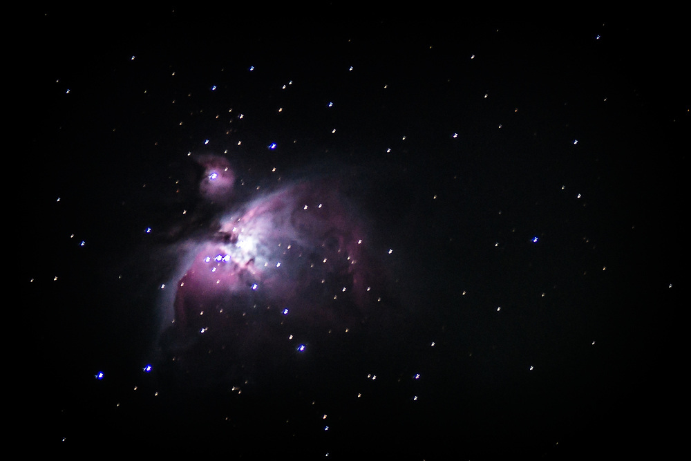 Orion nebulae. That picture was taken from my backyard, using a telescope.