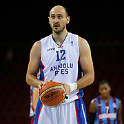 Anadolu Efes's Nenad Krstic during their Turkish Basketball League Play Off Semi Final round 2 match Anadolu Efes between Trabzonspor at Abdi Ipekci Arena in Istanbul Turkey on Friday 31 May 2015. Photo by Aykut AKICI/TURKPIX