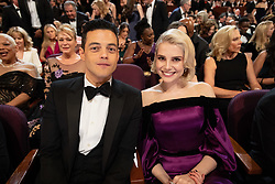 Rami Malek, Oscar® nominee, and Lucy Boyton during the live ABC telecast of The 91st Oscars® at the Dolby® Theatre in Hollywood, CA on Sunday, February 24, 2019.