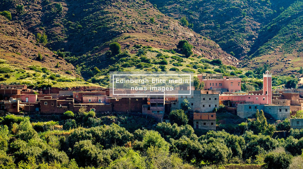A village in the Atlas Mountains in the Ourika Valley south of Marrakech, Morocco, North Africa<br /> <br /> (c) Andrew Wilson | Edinburgh Elite media