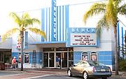 Florida's historic Beach Theatre on Corey Avenue.  St. Pete Beach Tampa Bay Area Florida USA
