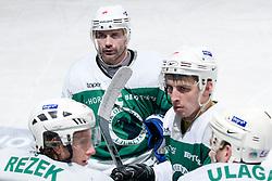 Team HK Olimpija during ice-hockey match between HK Olimpija and HK Jesenice Mladi in SLOHOKEJ league, on Januar 8, 2011 at Hala Tivoli, Ljubljana, Slovenia. (Photo By Matic Klansek Velej / Sportida.com)