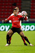 Dalbert Henrique of Stade Rennais, Jules Kounde of Sevilla FC during the UEFA Champions League, Group E football match between Stade Rennais and Sevilla FC (FC Seville) on December 8, 2020 at Roazhon Park in Rennes, France - Photo Jean Catuffe / ProSportsImages / DPPI