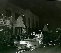 1956 Santa Claus Lane Parade on Hollywood Blvd.