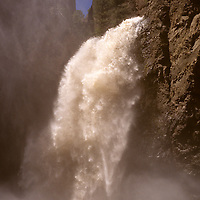 North America, USA, United States, Wyoming, Yellowstone National Park. Tower Falls of Yellowstone River.