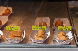 Fried foods at a State Fair in New Mexico