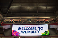 general she of the stadium and score board at  the International Friendly match between England and Brazil at Wembley Stadium, London, England on 14 November 2017. Photo by Sebastian Frej.