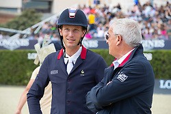 Staut Kevin, FRA, Guerdat Philippe, SUI<br /> Longines FEI Jumping Nations Cup™ Final<br /> Barcelona 20128<br /> © Hippo Foto - Dirk Caremans<br /> 07/10/2018