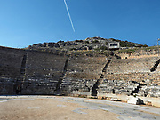 Ruins of the amphitheatre at ancient Philippi near Kavala Greece