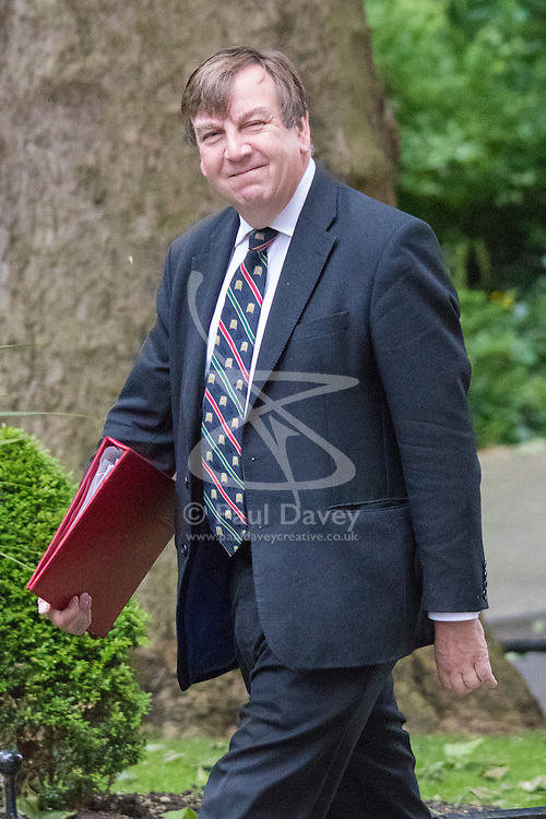 Downing Street, London June 2nd 2015. John Whittingdale, <br /> Secretary of State for Culture, Media and Sport arrives at 10 Downing Street to attend the weekly Cabinet Meeting.