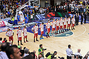 DESCRIZIONE : Campionato 2014/15 Dinamo Banco di Sardegna Sassari - Olimpia EA7 Emporio Armani Milano Playoff Semifinale Gara3<br /> GIOCATORE : Team Milano<br /> CATEGORIA : Before Pregame<br /> SQUADRA : Olimpia EA7 Emporio Armani Milano<br /> EVENTO : LegaBasket Serie A Beko 2014/2015 Playoff Semifinale Gara3<br /> GARA : Dinamo Banco di Sardegna Sassari - Olimpia EA7 Emporio Armani Milano Gara4<br /> DATA : 02/06/2015<br /> SPORT : Pallacanestro <br /> AUTORE : Agenzia Ciamillo-Castoria/L.Canu