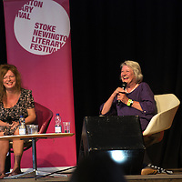 Lynn Barber and Suzanne Moore<br /> On stage at the Stoke Newington Literary Festival. 8 June 2014<br /> <br /> Picture by David X Green/Writer Pictures