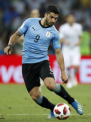 Luis Suarez of Uruguay during the 2018 FIFA World Cup Russia round of 16 match between Uruguay and at the Fisht Stadium on June 30, 2018 in Sochi, Russia