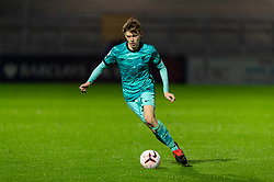 LONDON, ENGLAND - Friday, October 30, 2020: Liverpool's Conor Bradley during the Premier League 2 Division 1 match between Arsenal FC Under-23's and Liverpool FC Under-23's at Meadow Park. Liverpool won 1-0. (Pic by David Rawcliffe/Propaganda)