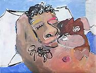 "Alex and Potato, Acrylic on Canvas, 14""x18"", 2013"