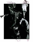portrait noir et blanc de Ricardo Gremy réalisé dans mon studio de Nouméa.