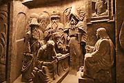 Wieliczka, Poland. Salt Mine Chapel of the Blessed Kinga (near Krakow). detail.