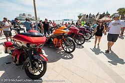 Boardwalk Bike Show during Daytona Beach Bike Week, FL. USA. Friday, March 15, 2019. Photography ©2019 Michael Lichter.