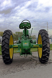 04 May 2013:   Arranged to coincide and be a part of the Red Corridor Route 66 festival, the village of Lexington hosts an antique tractor show.  Roger Whaley is the chairman of the organizing committee.  1941(a) John Deere.