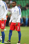 England Defender Danny Rose in warm up during the Euro 2016 Group B match between Slovakia and England at Stade Geoffroy Guichard, Saint-Etienne, France on 20 June 2016. Photo by Phil Duncan.