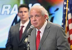 November 1, 2018 - Miami, FL, USA - Tomás Regalado, director de TV Y Radio Martí, durante la conferencia de prensa sobre el lanzamiento de Campaña Mundial de denuncias sobre violaciones de los derechos humanos en Cuba, el martes, 14 de agosto del 2018. (Credit Image: © Roberto Koltun/Miami Herald/TNS via ZUMA Wire)