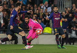 May 1, 2019 - Barcelona, Barcelona, Spain - Messi of Barcelona scoring a goal  during UEFA Champions League football match, between Barcelona and Liverpool, May 01th, in Camp Nou stadium in Barcelona, Spain. (Credit Image: © AFP7 via ZUMA Wire)