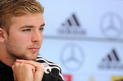 29.05.2014, Teamcamp, St. Martin Passeiertal, ITA, FIFA WM, Vorbereitung Deutschland, Presseconferenz, im Bild Christoph Kramer (Borussia Moenchengladbach) // during a press conference the Trainingscamp of Team Germany for Preparation of the FIFA Worldcup Brasil 2014 at the Teamcamp in St. Martin Passeiertal, Italy on 2014/05/29. EXPA Pictures © 2014, PhotoCredit: EXPA/ Eibner-Pressefoto/ Stuetzle<br /> <br /> *****ATTENTION - OUT of GER*****