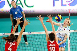 Lana Scuka of Slovenia during the volleyball match between National team of Turkey and Slovenia in Gold Medal game of Womens U23 World Championship 2017, on September 17, 2017 in SRC Stozice, Ljubljana, Slovenia. Photo by Morgan Kristan / Sportida