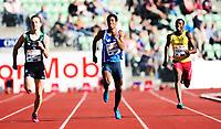 Friidrett ,11. juni 2014 ,  Diamond League , Bislett Games<br /> Athletics , June 11 , 2014<br /> <br /> Kartsen Warholm , Jonathan Quarcoo , Norge på 200 meter