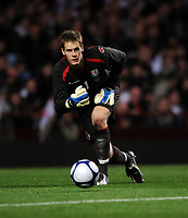 Villa Park Birmingham England U21 v Wales U21 (2-2 5-4 agg) 14/10/2008<br /> Owain Fon Williams (Wales)<br /> Photo Roger Parker Fotosports International