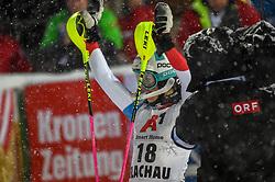 08.01.2019, Hermann Maier Weltcupstrecke, Flachau, AUT, FIS Weltcup Ski Alpin, Slalom, Damen, 2. Lauf, im Bild Aline Danioth (SUI) // Aline Danioth of Switzerland reacts after her 2nd run of ladie's Slalom of FIS ski alpine world cup at the Hermann Maier Weltcupstrecke in Flachau, Austria on 2019/01/08. EXPA Pictures © 2019, PhotoCredit: EXPA/ Erich Spiess