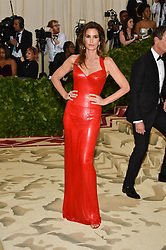 Cindy Crawford attending the Costume Institute Benefit at The Metropolitan Museum of Art celebrating the opening of Heavenly Bodies: Fashion and the Catholic Imagination. The Metropolitan Museum of Art, New York City, New York, May 7, 2018. Photo by Lionel Hahn/ABACAPRESS.COM