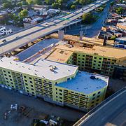 Crossroads West apartment building under construction near West Pennway and Southwest Boulevard, Kansas City, Missouri.