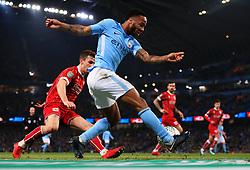 Raheem Sterling of Manchester City crosses - Mandatory by-line: Matt McNulty/JMP - 09/01/2018 - FOOTBALL - Etihad Stadium - Manchester, England - Manchester City v Bristol City - Carabao Cup Semi-Final First Leg