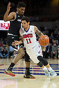 DALLAS, TX - JANUARY 7: Nic Moore #11 of the SMU Mustangs drives to the basket against the Cincinnati Bearcats on January 7, 2016 at Moody Coliseum in Dallas, Texas.  (Photo by Cooper Neill/Getty Images) *** Local Caption *** Nic Moore