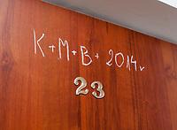 12.2014 Bialystok Zdjecie ilustracyjne N/z K+M+B, symbol wypisywany z okazji uroczystosci swieta Trzech Kroli, ktory pojawia sie na drzwiach mieszkan fot Michal Kosc / AGENCJA WSCHOD