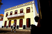 """Sao Filipe, the  capital of Fogo island is one of the best examples of portuguese colonial architecture, maily its """"sobrado"""" houses. The masters used to live on the top flor of these houses while the servants on the ground flor."""