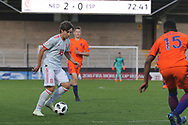 Adrian Bernabe of Spain (18) during the UEFA European Under 17 Championship 2018 match between Netherlands and Spain at the Pirelli Stadium, Burton upon Trent, England on 8 May 2018. Picture by Mick Haynes.