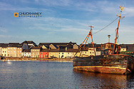 The Claddagh at the River Corrib in Galway, Ireland