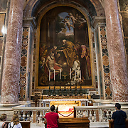The Altar of St. Jerome in The Vatican. Underneath an urn contains the remains of San Giovanni XXIII