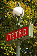 Paris - France - sMetro Sign - Champs  Eleysee .<br /> <br /> Visit our FRANCE HISTORIC PLACES PHOTO COLLECTIONS for more photos to download or buy as wall art prints https://funkystock.photoshelter.com/gallery-collection/Pictures-Images-of-France-Photos-of-French-Historic-Landmark-Sites/C0000pDRcOaIqj8E