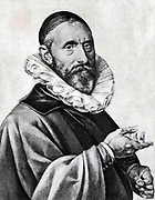 Illustration of Jan Pieterszoon Sweenlinck (1562-1621) Dutch composer and organist at the Old Church, Amsterdam, from 1580 until his death.
