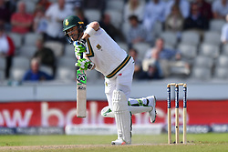 South Africa's Faf du Plessis bats during day four of the Fourth Investec Test at Emirates Old Trafford, Manchester.