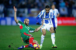November 23, 2018 - Leganes, MADRID, SPAIN - Youssef En-Nesyri of Leganes and Laguardia of Alaves during the Spanish Championship La Liga football match between CD Leganes and Deportivo Alaves on November 23th, 2018 at Estadio de Butarque in Leganes, Madrid, Spain. (Credit Image: © AFP7 via ZUMA Wire)