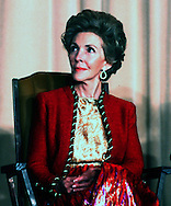 A 20.5 MG FILE FROM FILM OF:.Nancy Reagan at an event in 1976.Photo by dennis Brack