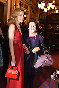 NATALIA VODIANOVA; SUSY MENKES, The Backstage Gala in aid of the Naked Heart Foundation. Coliseum theatre. London. 17 April 2015