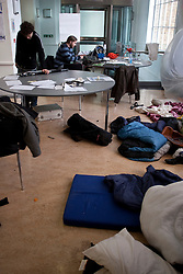 © under license to London News Pictures. 08/12/2010 . The occupation of University College London by students protesting against cuts. The students have now occupied the building for two weeks. Credit should read Matt Cetti-Roberts/London News Pictures