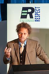 David Neita speaking at the Respect Annual conference 2010 at Prison Service college Newbold Revel